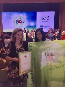 Nagrado sta prevzeli Janja Urankar Berčon, direktorica STIK-a Laško, in Mojca Leskovar, članica uprave Thermane Laško.